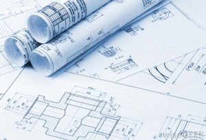 Architects Blueprints for Tenant Office Space
